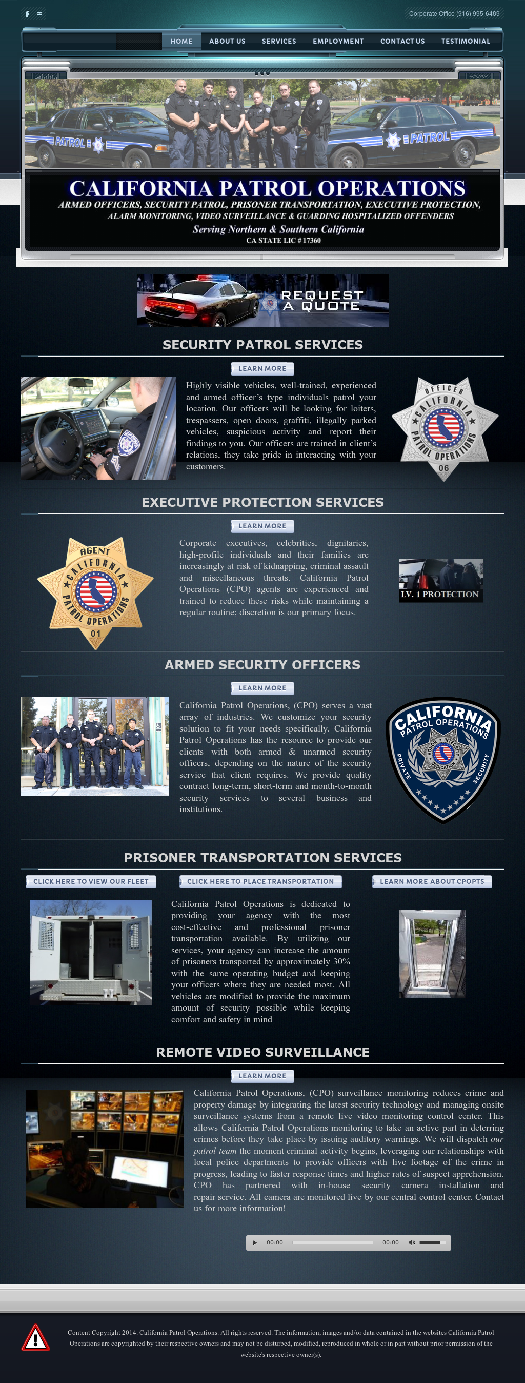 California Patrol Operations Competitors, Revenue and Employees