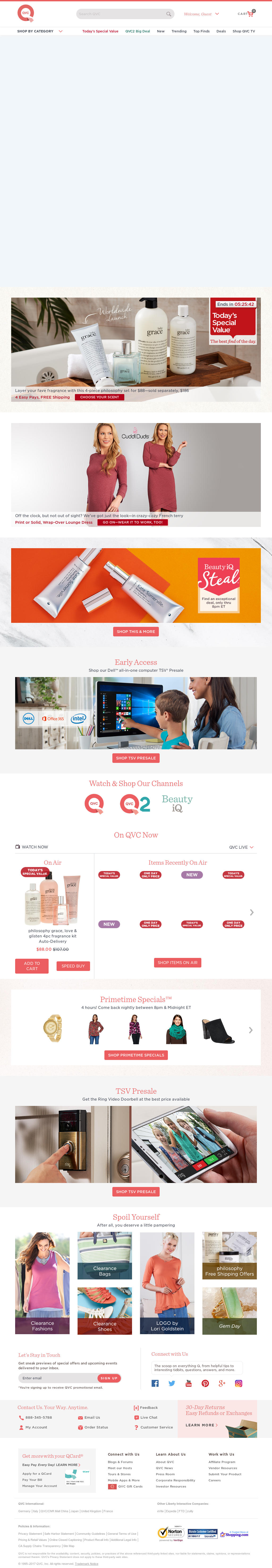 qvc website history