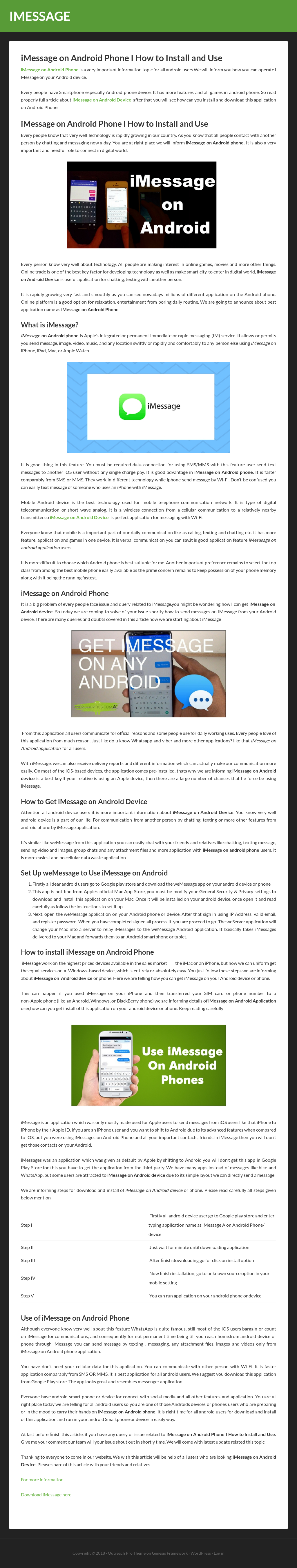 Imessage For Android Competitors, Revenue and Employees