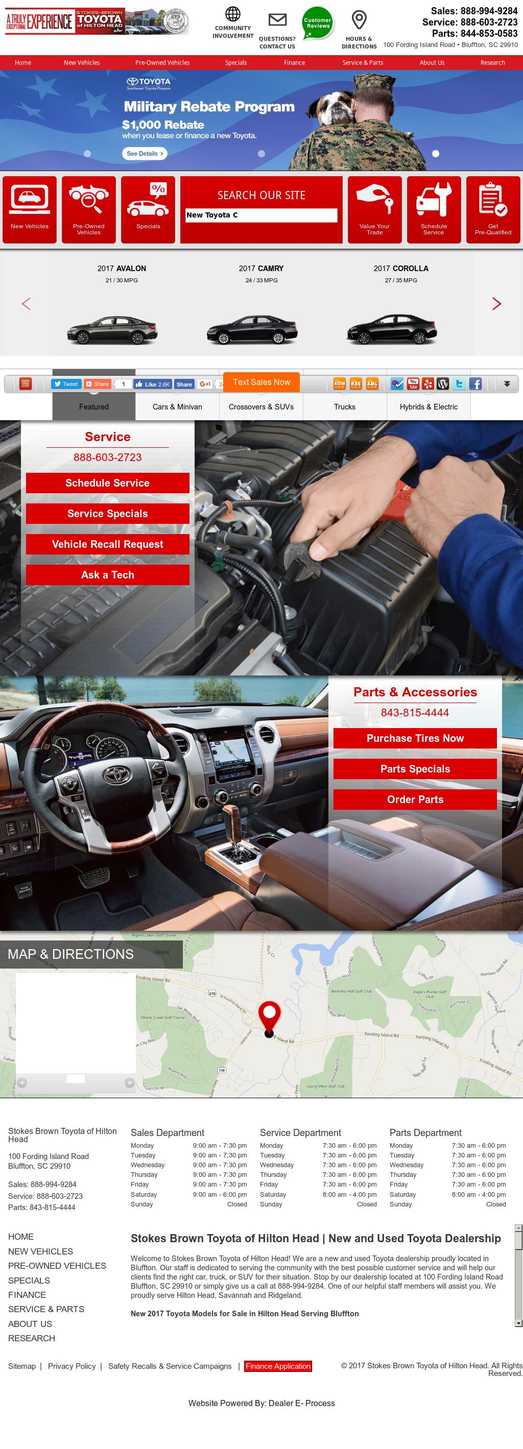 Stokes Brown Toyota Of Hilton Head Petitors Revenue And