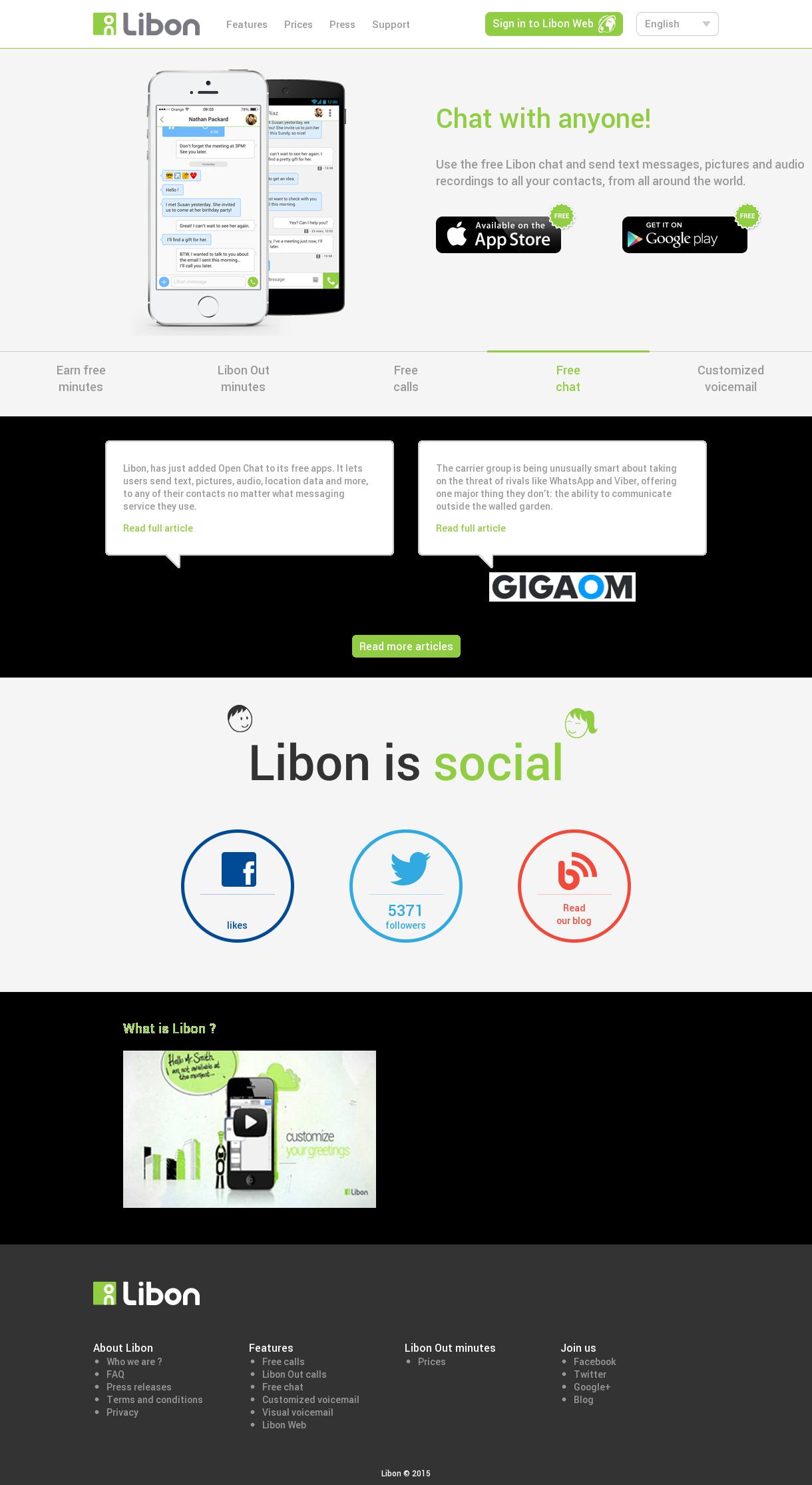 Sign up libon