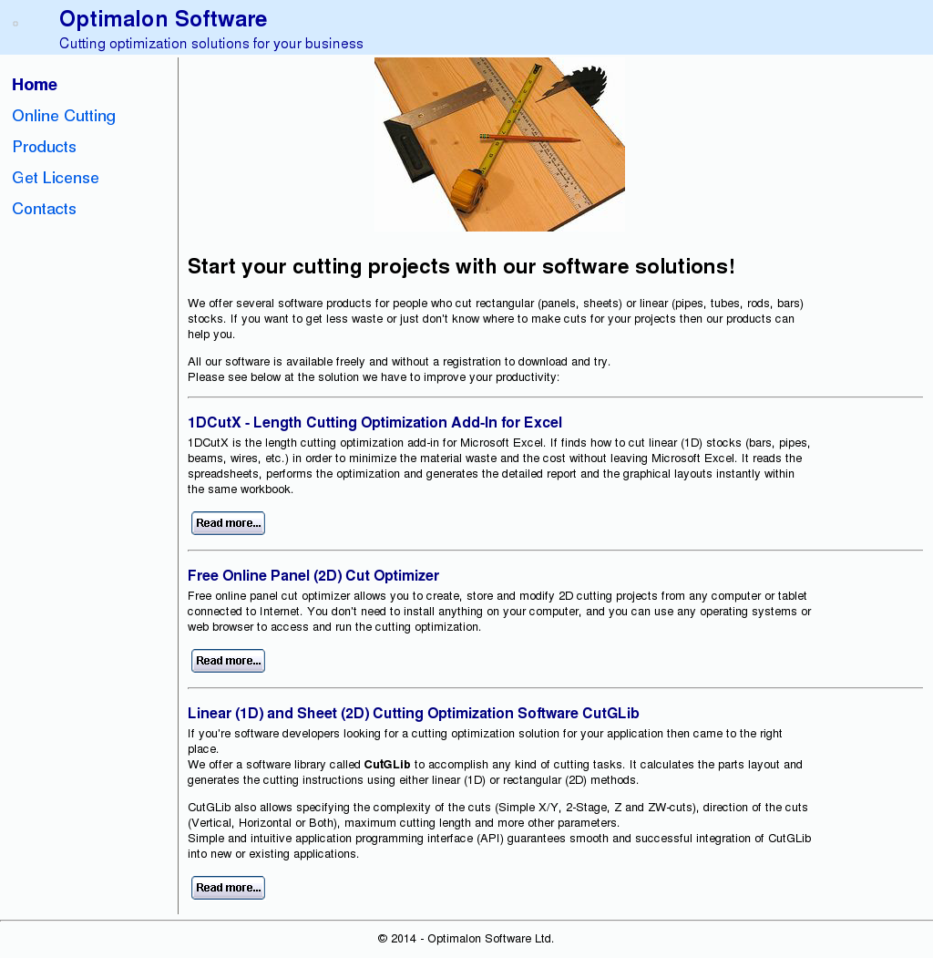 Owler Reports - Press Release: Optimalon Software : Cutting