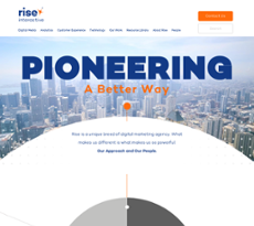 Rise Interactive website history
