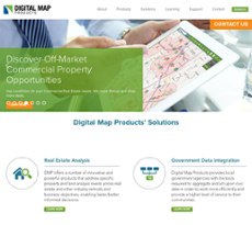 Digital Map Products website history
