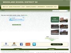 Woodland School District 50 website history