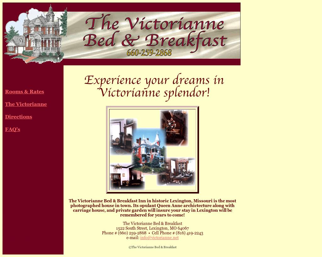 The Victorianne Bed   Breakfast Competitors d48e0cc37