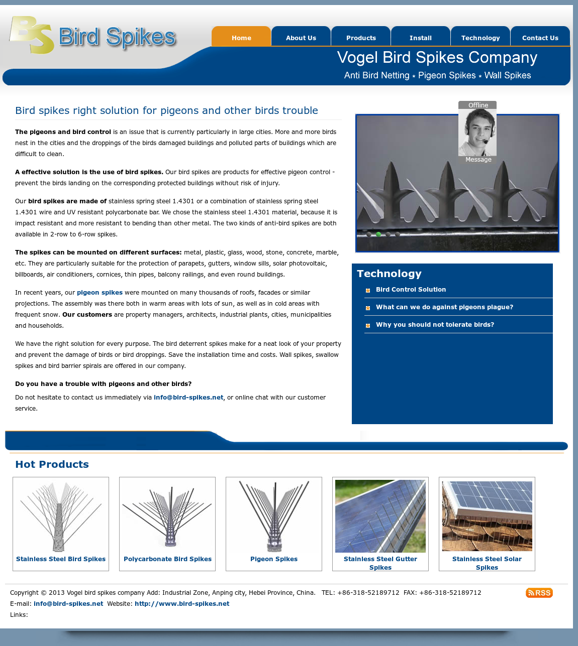 Vogel Bird Spikes Company Add Competitors, Revenue and