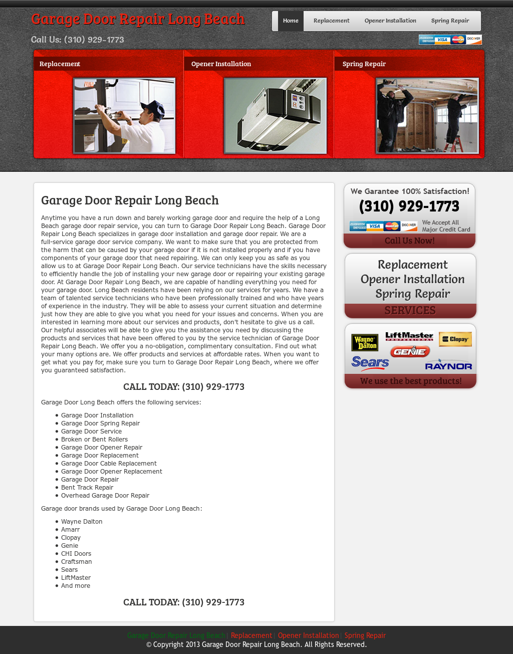 Garage Door Repair Long Beach Website History