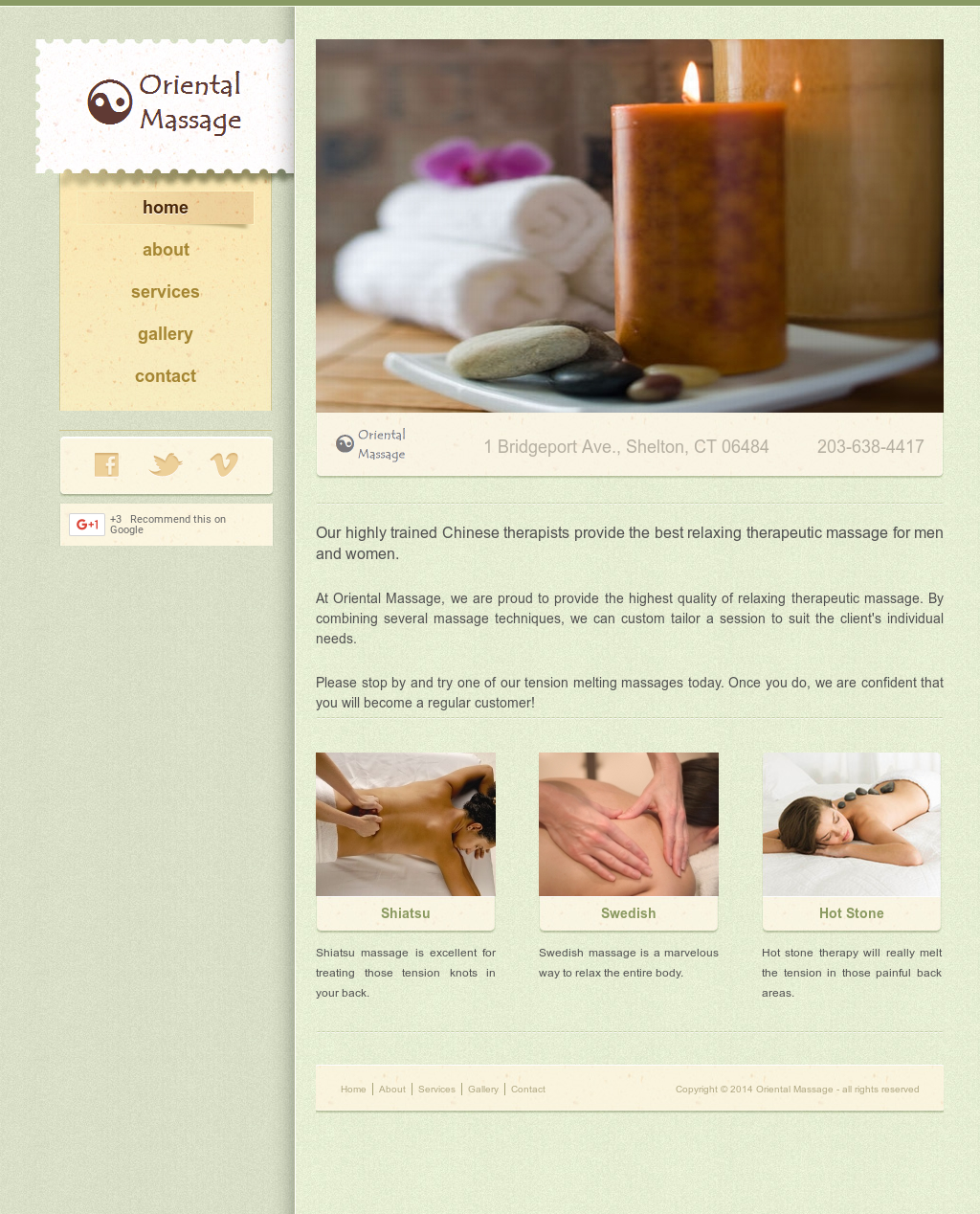 Oriental massage shelton ct-7510