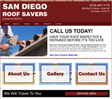 San Diego Roof Savers Website History