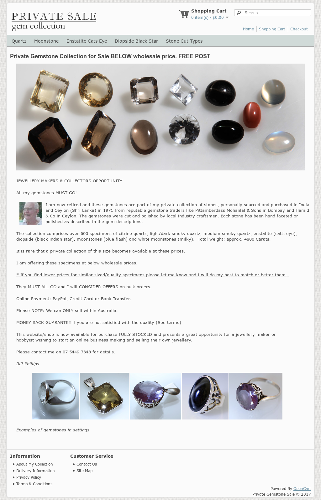 Private Gemstone Sale Competitors, Revenue and Employees