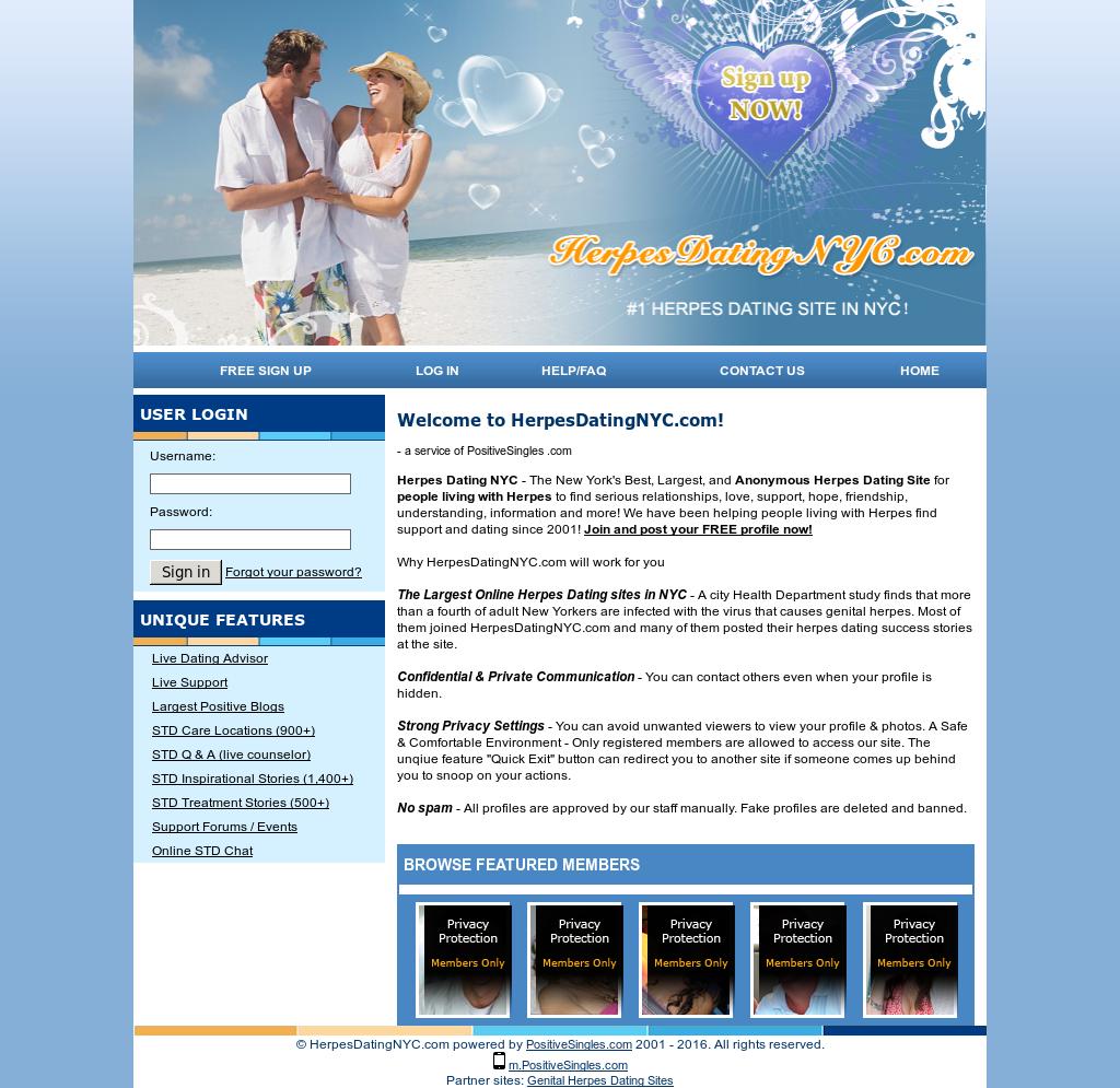 herpes dating site New York waren dating, maar hij is nog steeds op tondel