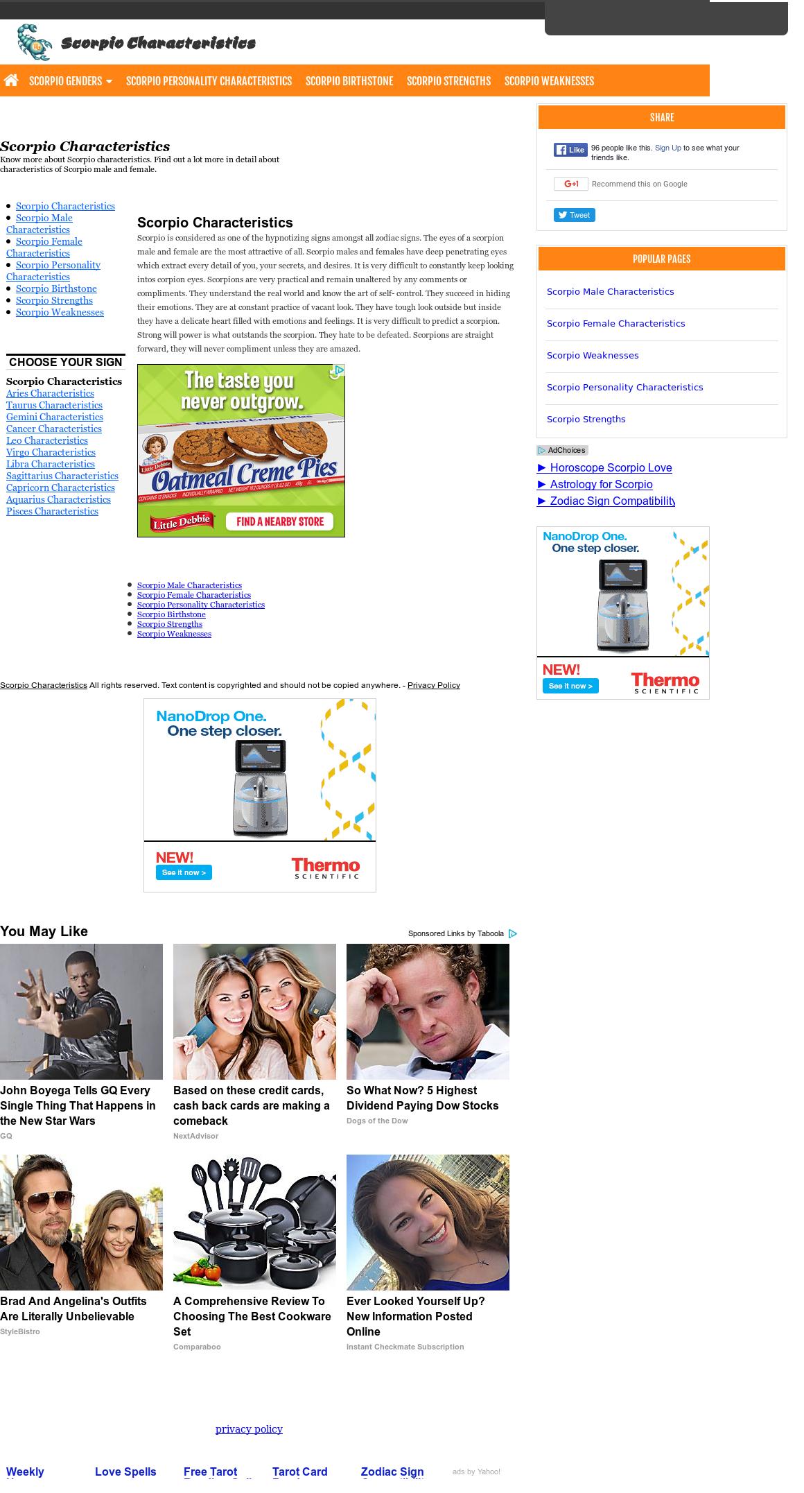 Scorpio Characteristics Competitors, Revenue and Employees - Owler