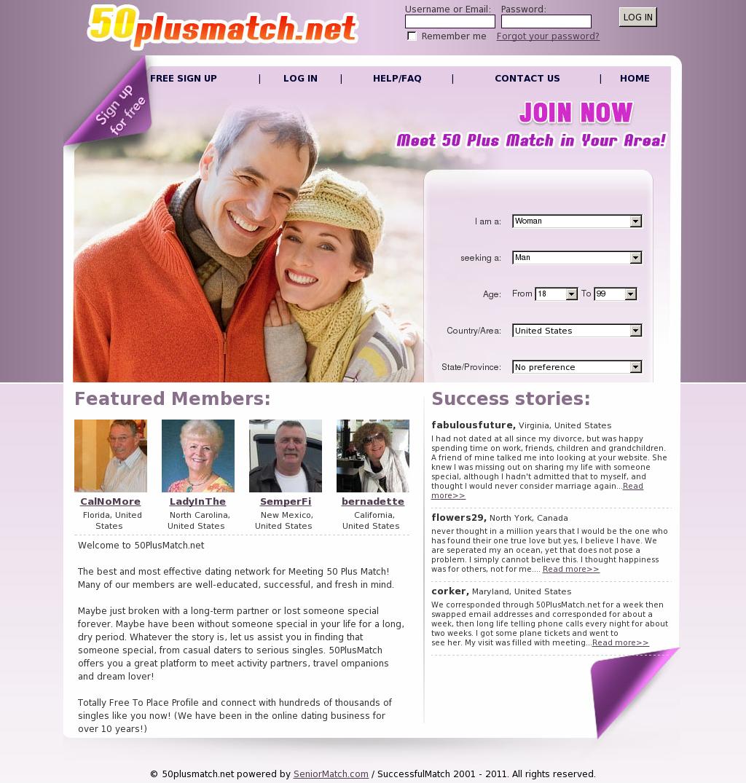Gratis dating site 50plusmatch