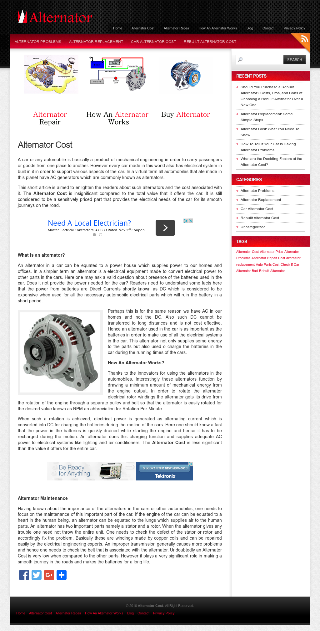 Alternator Repair Cost >> Alternator Cost Competitors Revenue And Employees Owler