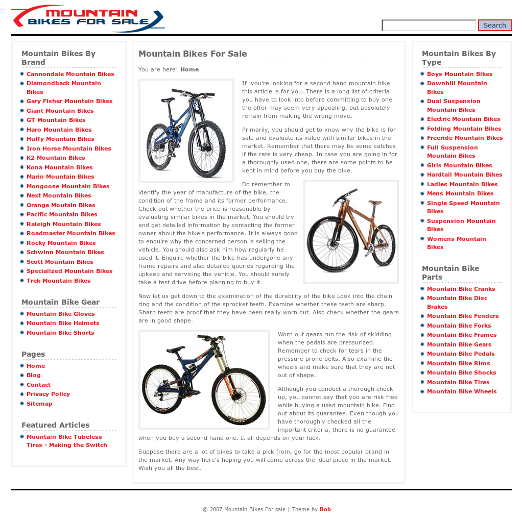 Mountain Bikes For Sale Competitors, Revenue and Employees