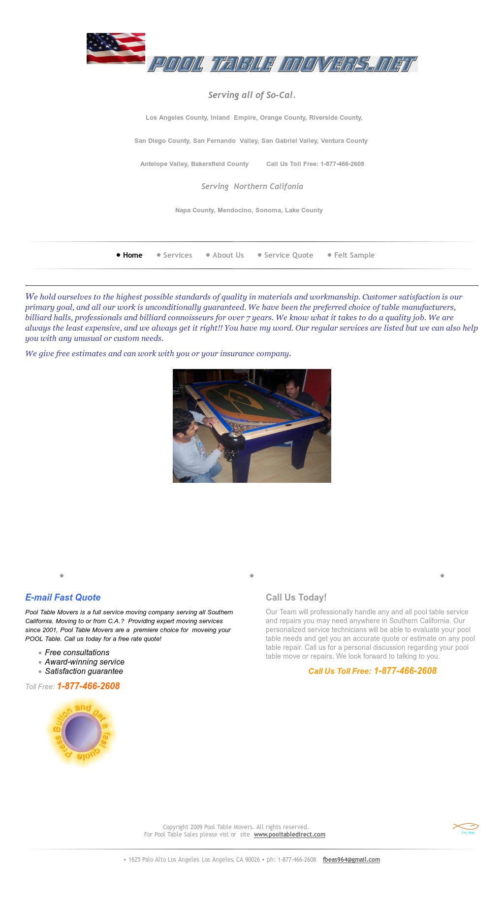 Pool Table Movers Competitors Revenue And Employees Owler Company - Pool table movers bakersfield ca