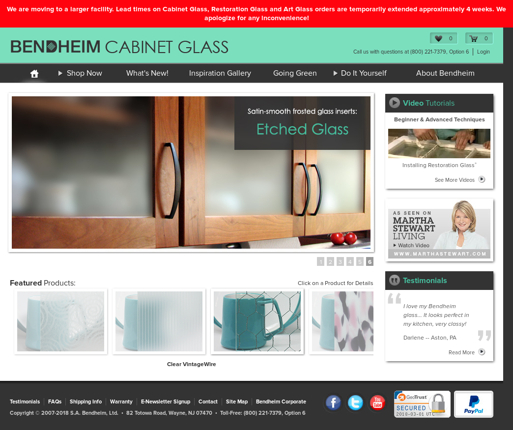 Superbe Bendheim Cabinet Glass Website History