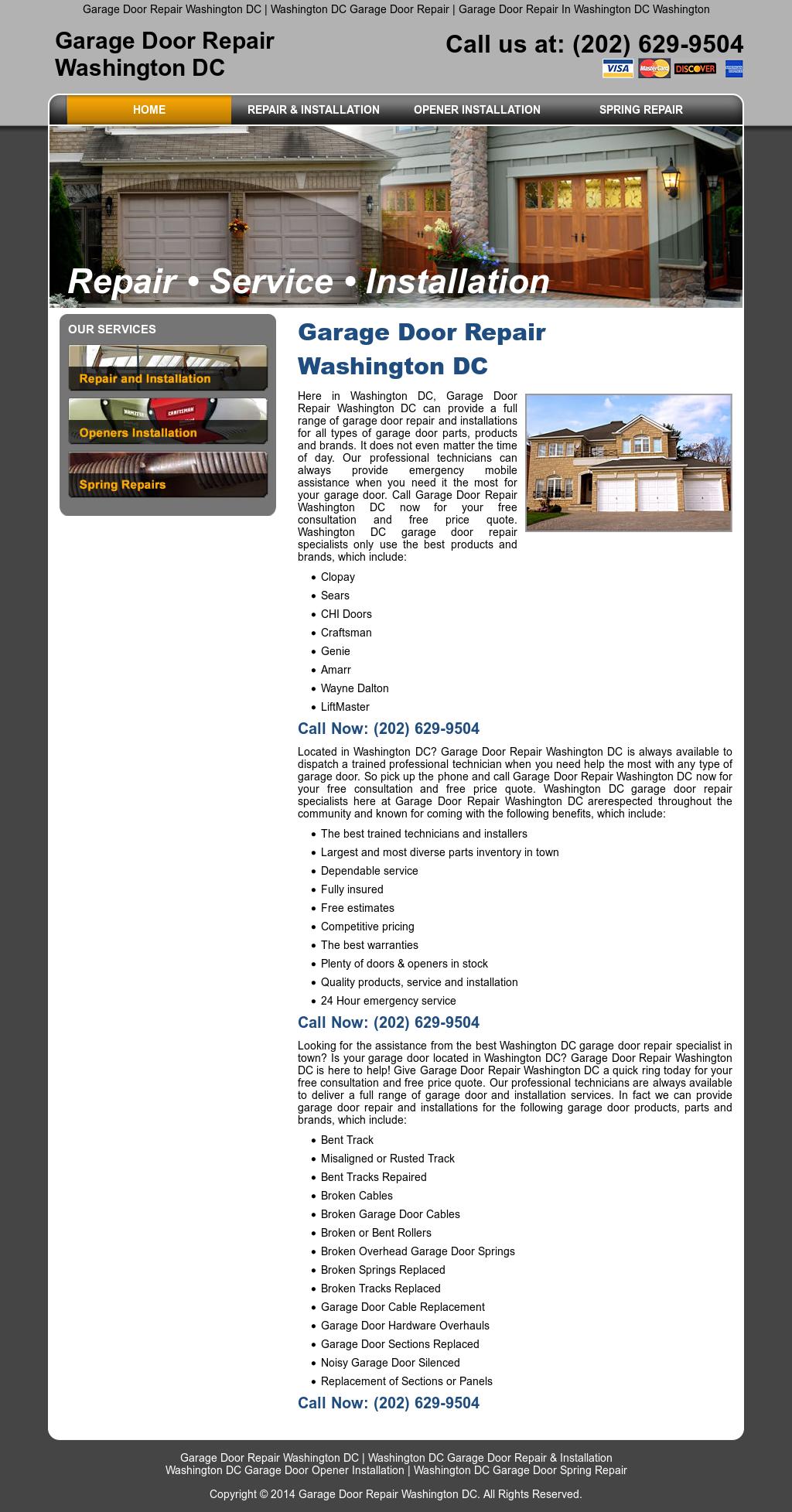 Garage Door Repair Washington Dc Website History