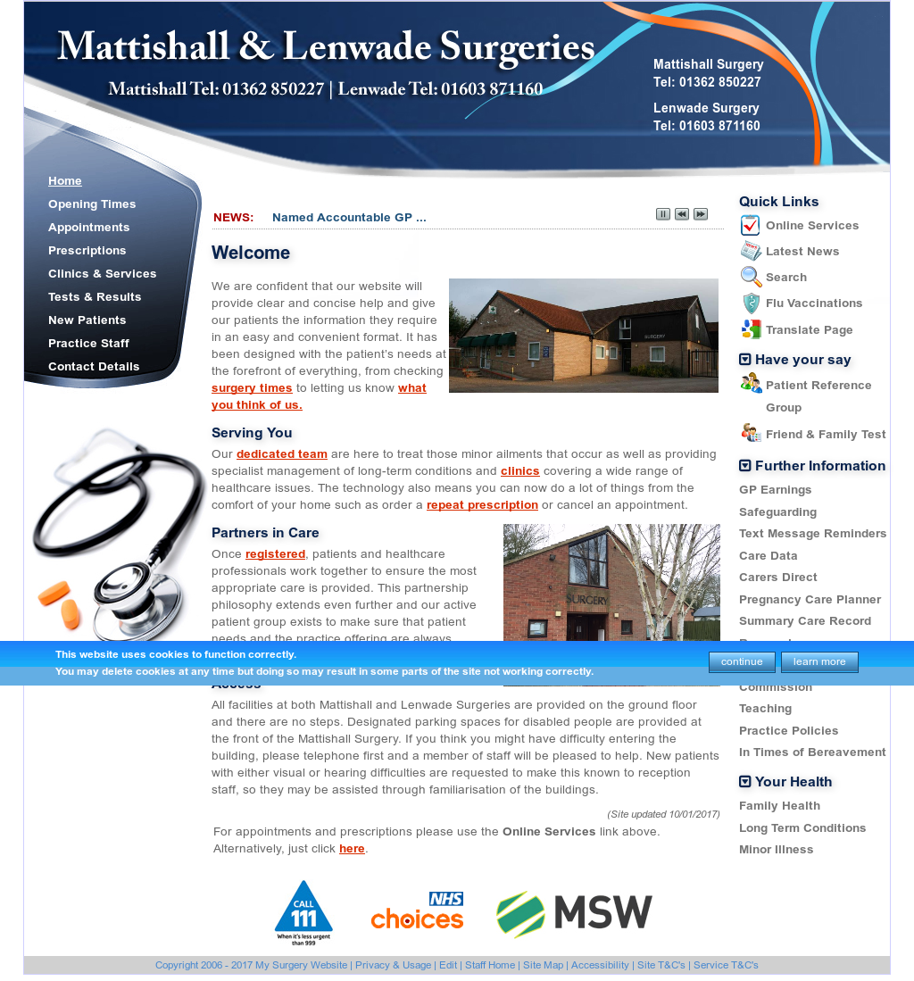 Mattishall Practice Competitors, Revenue and Employees