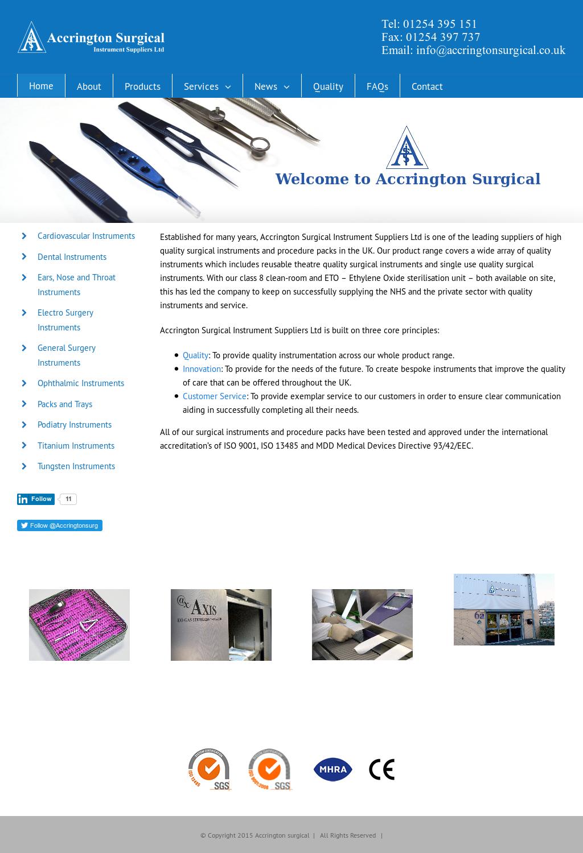 Accrington Surgical Instrument Suppliers Competitors