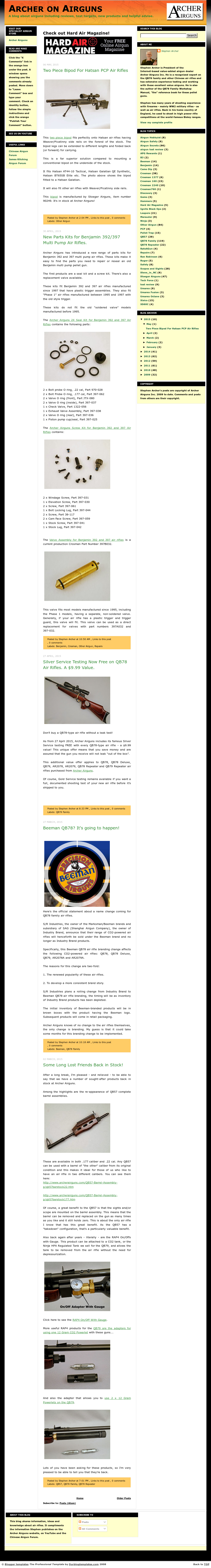 Stephen Archer's Posts Are Copyright Of Archer Airguns