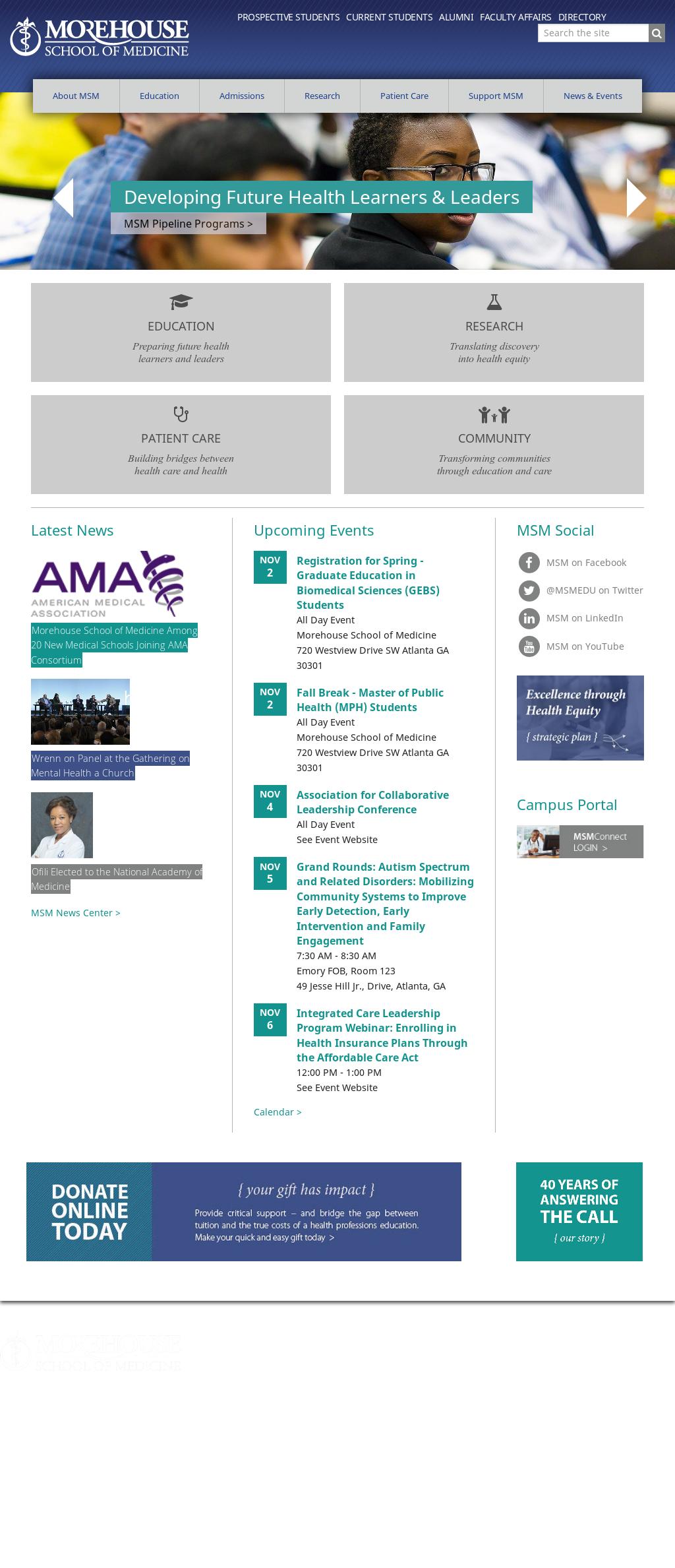 Morehouse School of Medicine Competitors, Revenue and