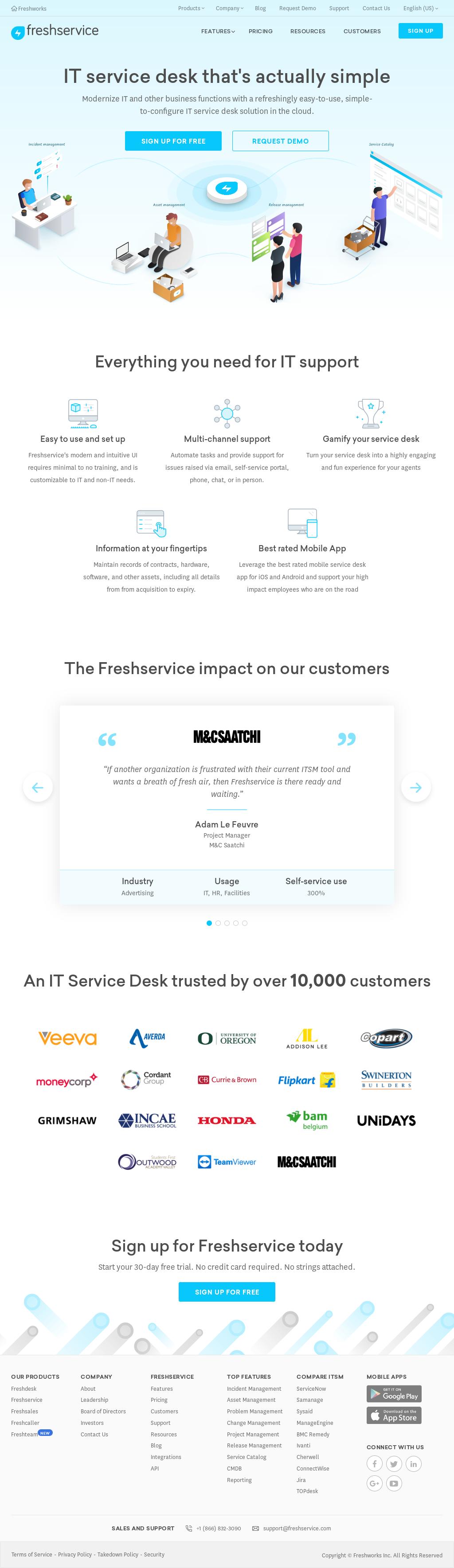 Freshservice Website History