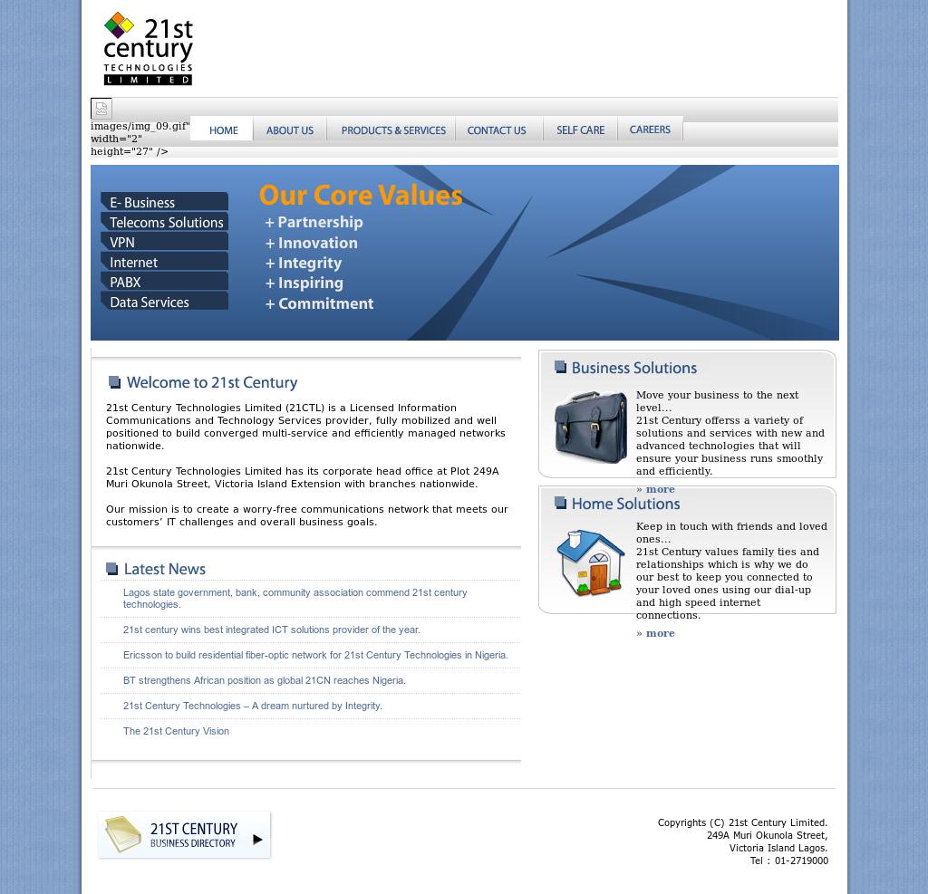21st Century Connect 21ctl com Entrance Competitors, Revenue