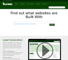 Builtwith website history