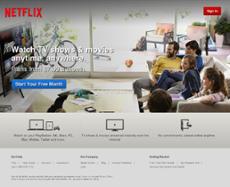 Netflix website history