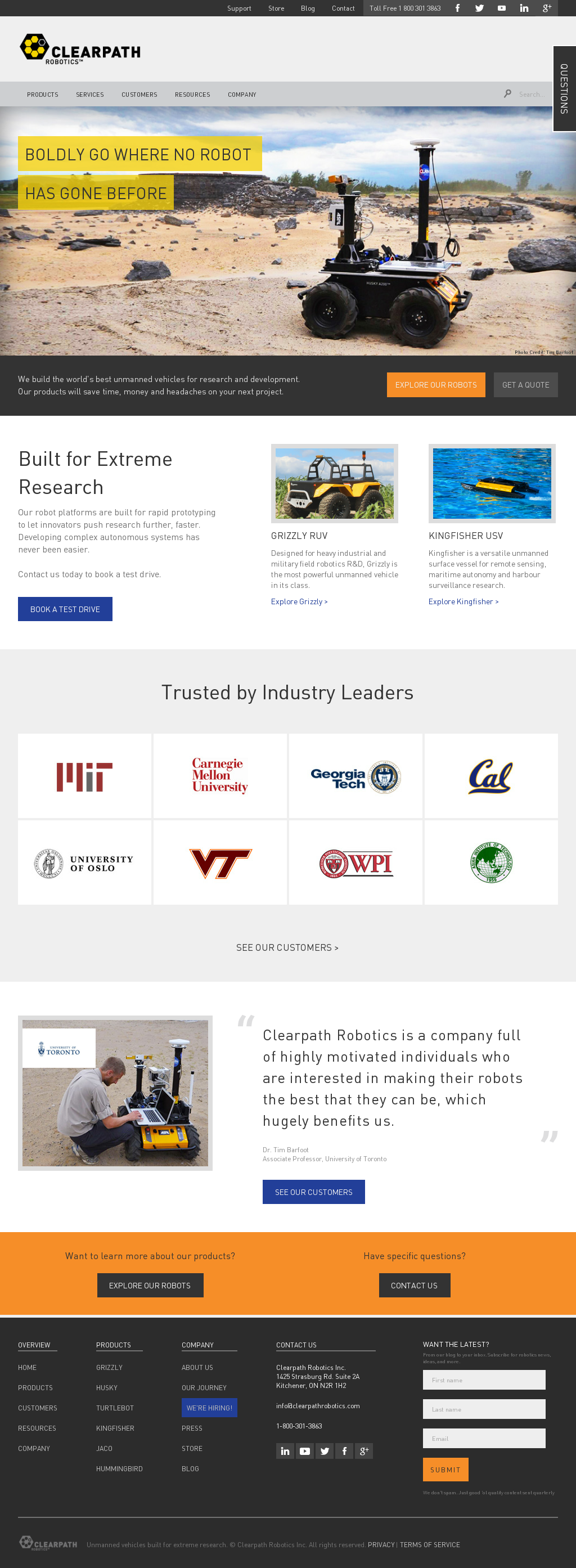 Clearpath Robotics Competitors, Revenue and Employees