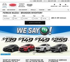 Ferman Mazda Of Brandonu0027s Website Screenshot On Mar 2018