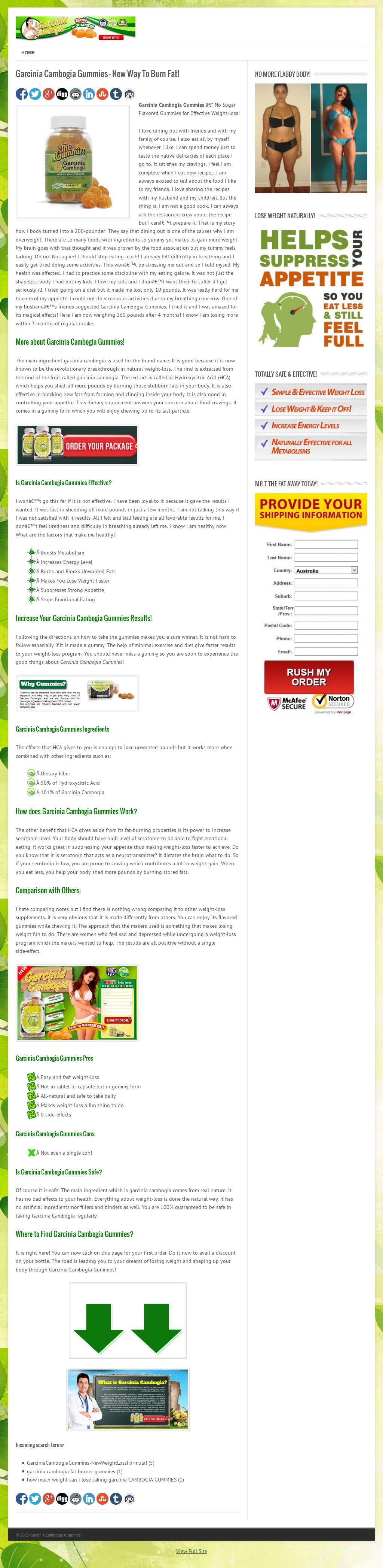 Garcinia Cambogia Gummies Competitors Revenue And Employees