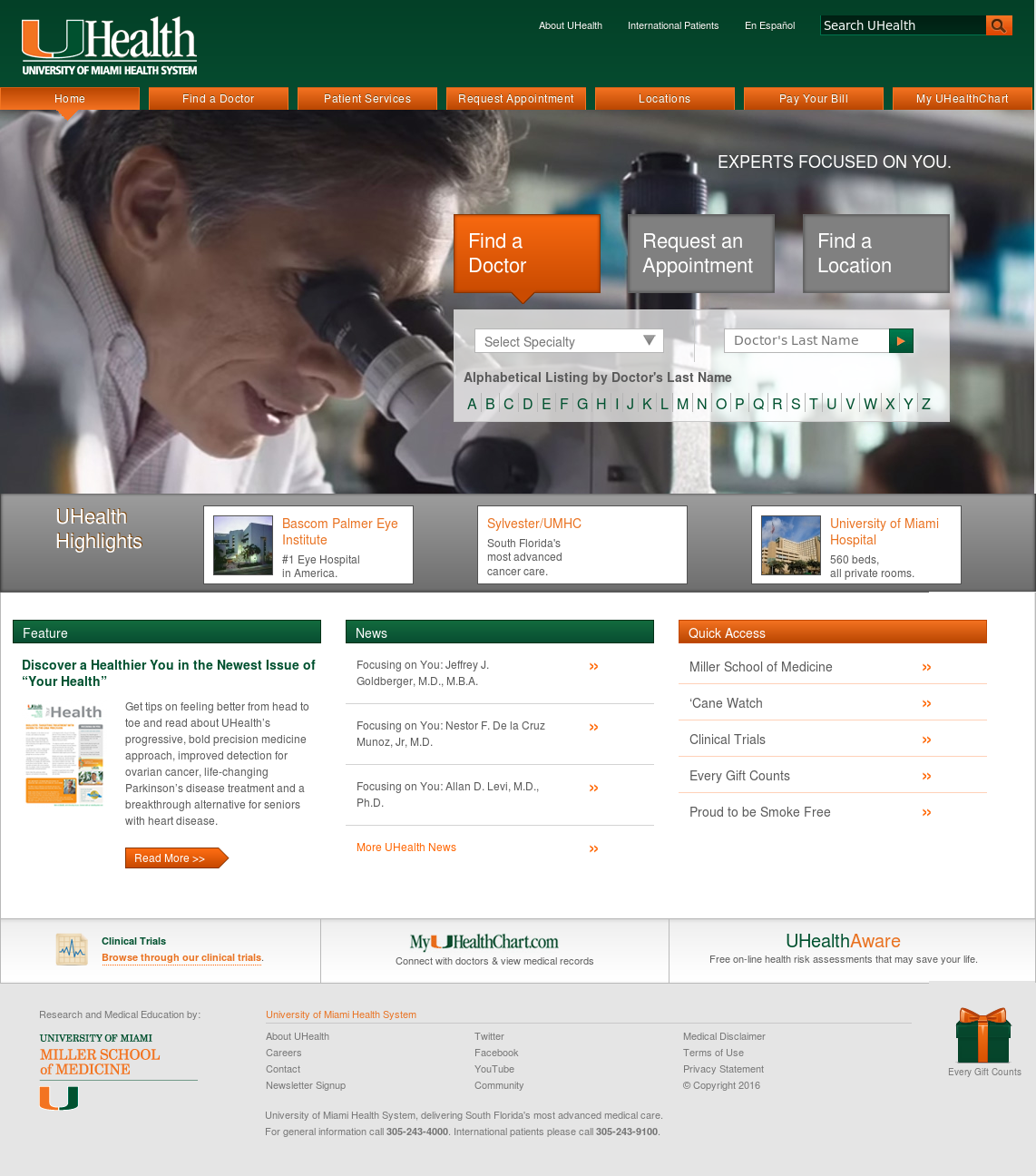 University of Miami Health System Competitors, Revenue and