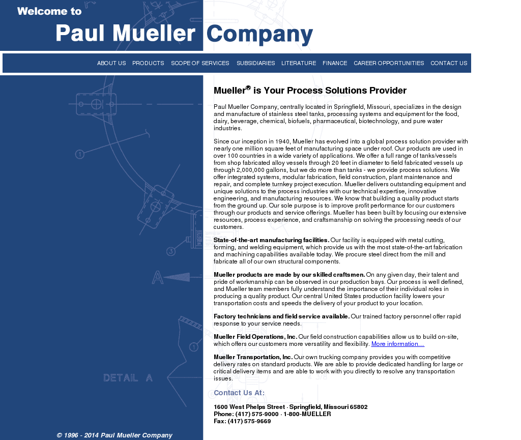 Paul Mueller Company Competitors, Revenue and Employees