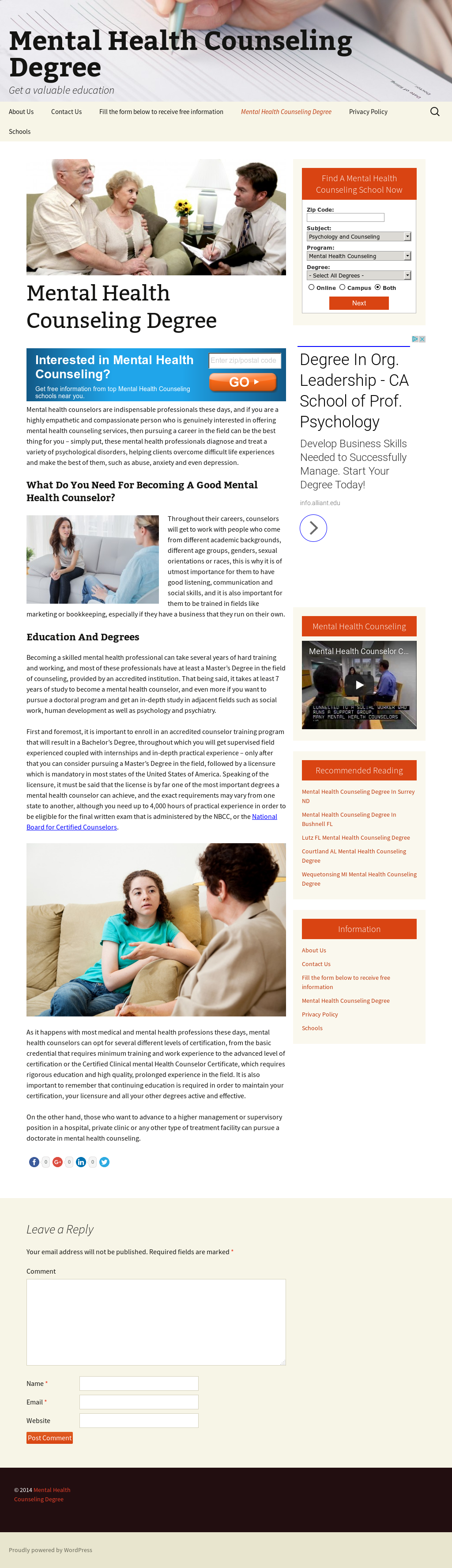 Mental Health Counseling Degree Competitors Revenue And Employees