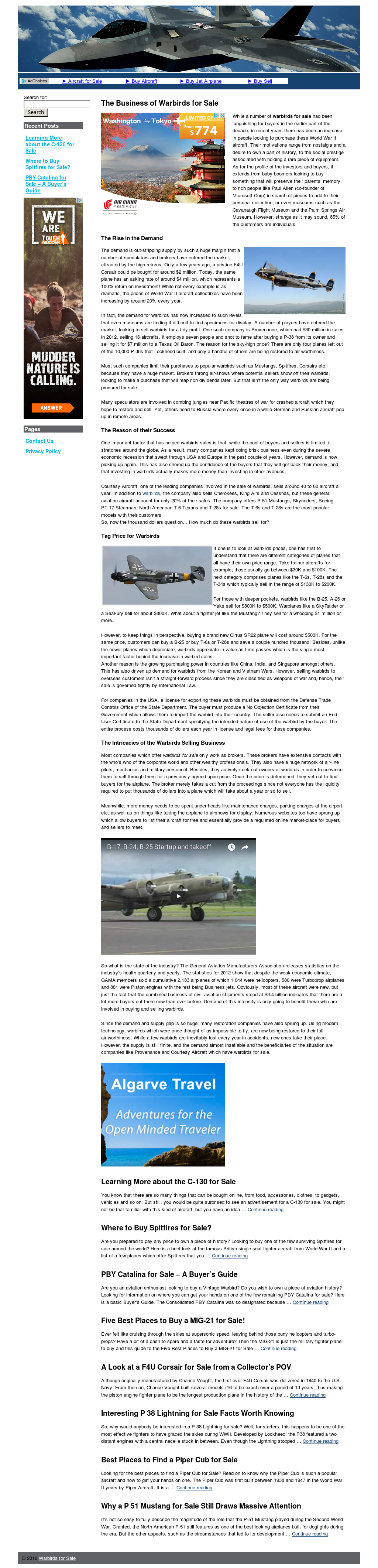 Warbirds For Sale Competitors, Revenue and Employees - Owler