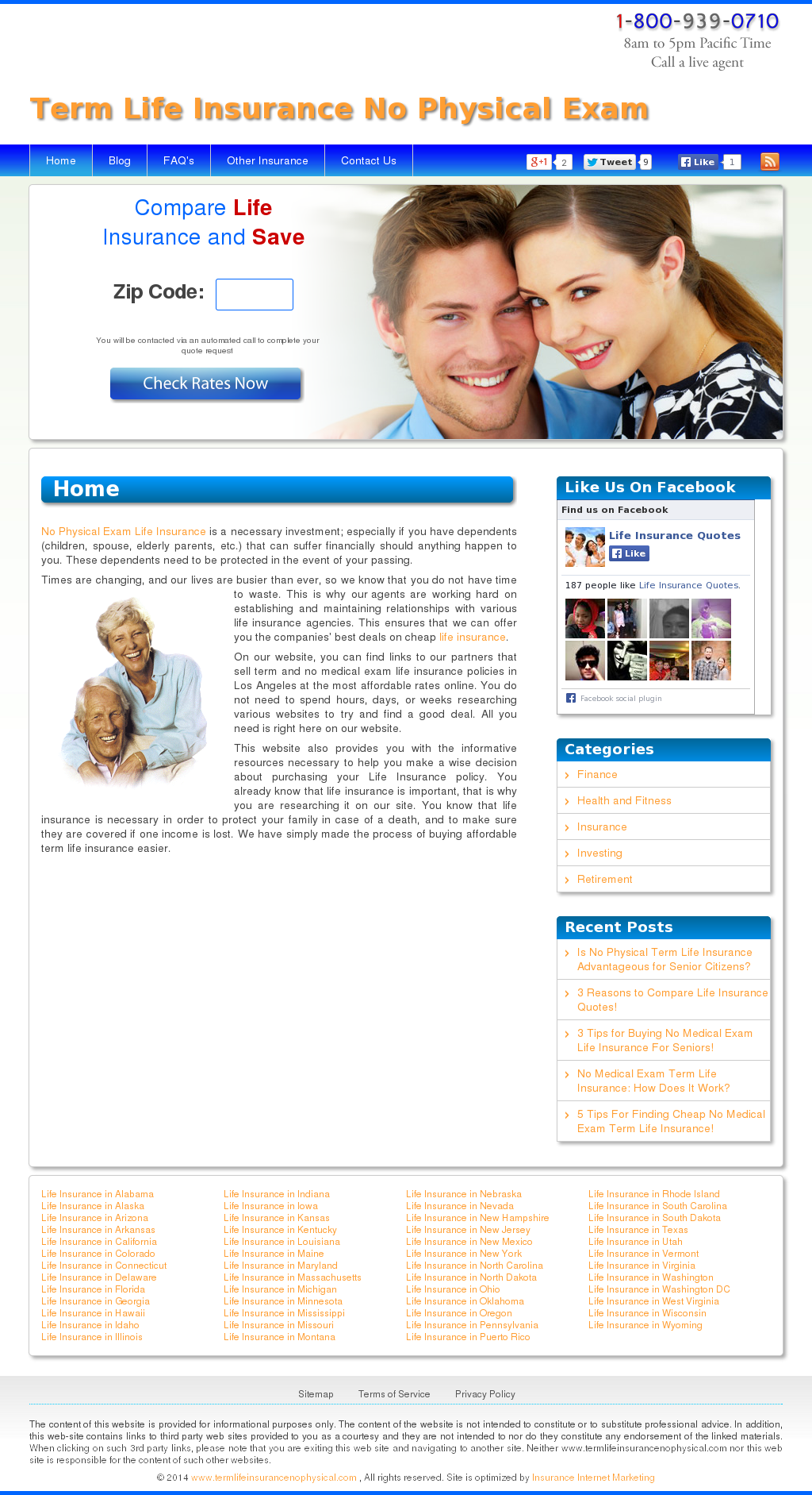 Term Life Insurance No Physical Exam Website History