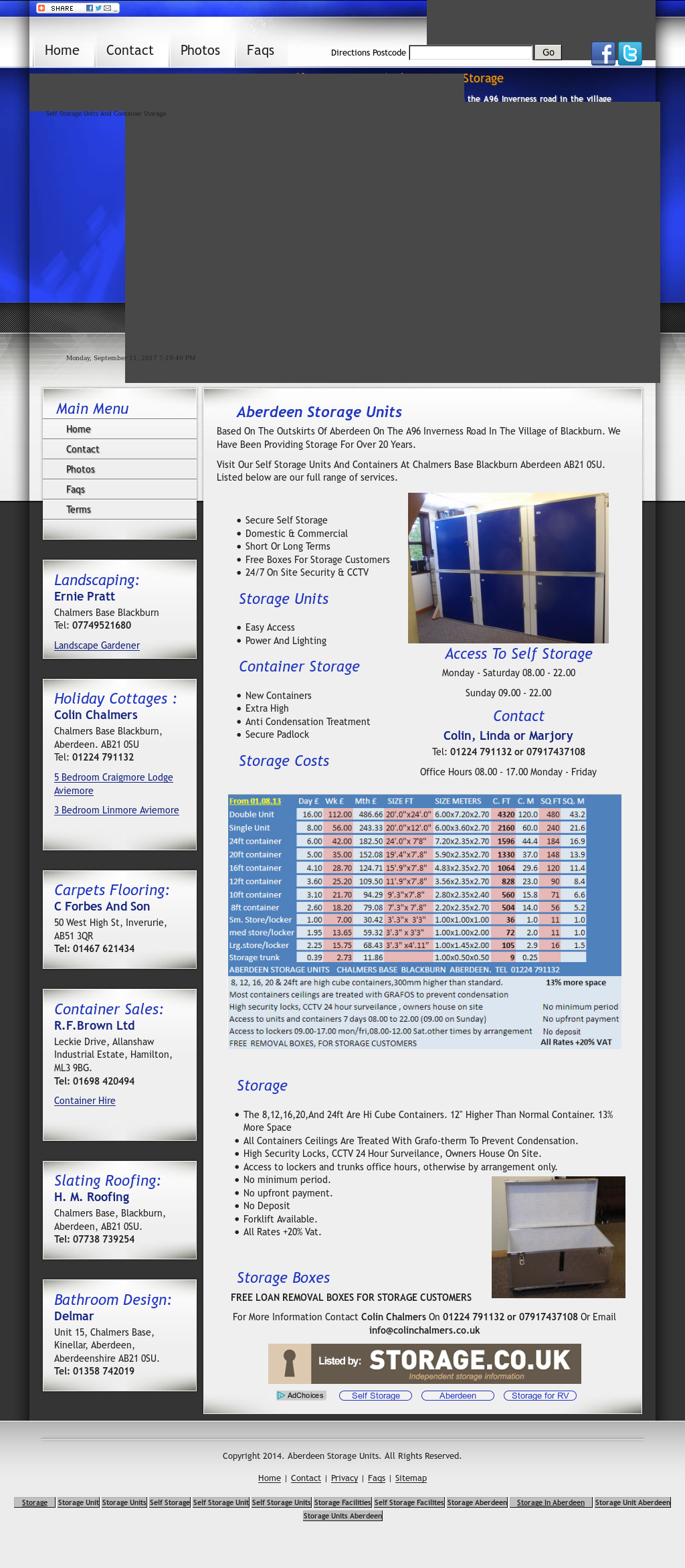 Aberdeen Storage Units website history & Aberdeen Storage Units Competitors Revenue and Employees - Owler ...
