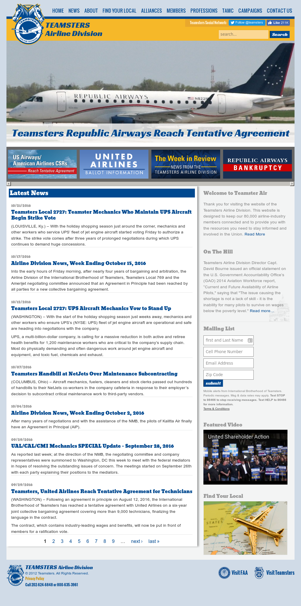 Teamsters Airline Division Competitors Revenue And Employees