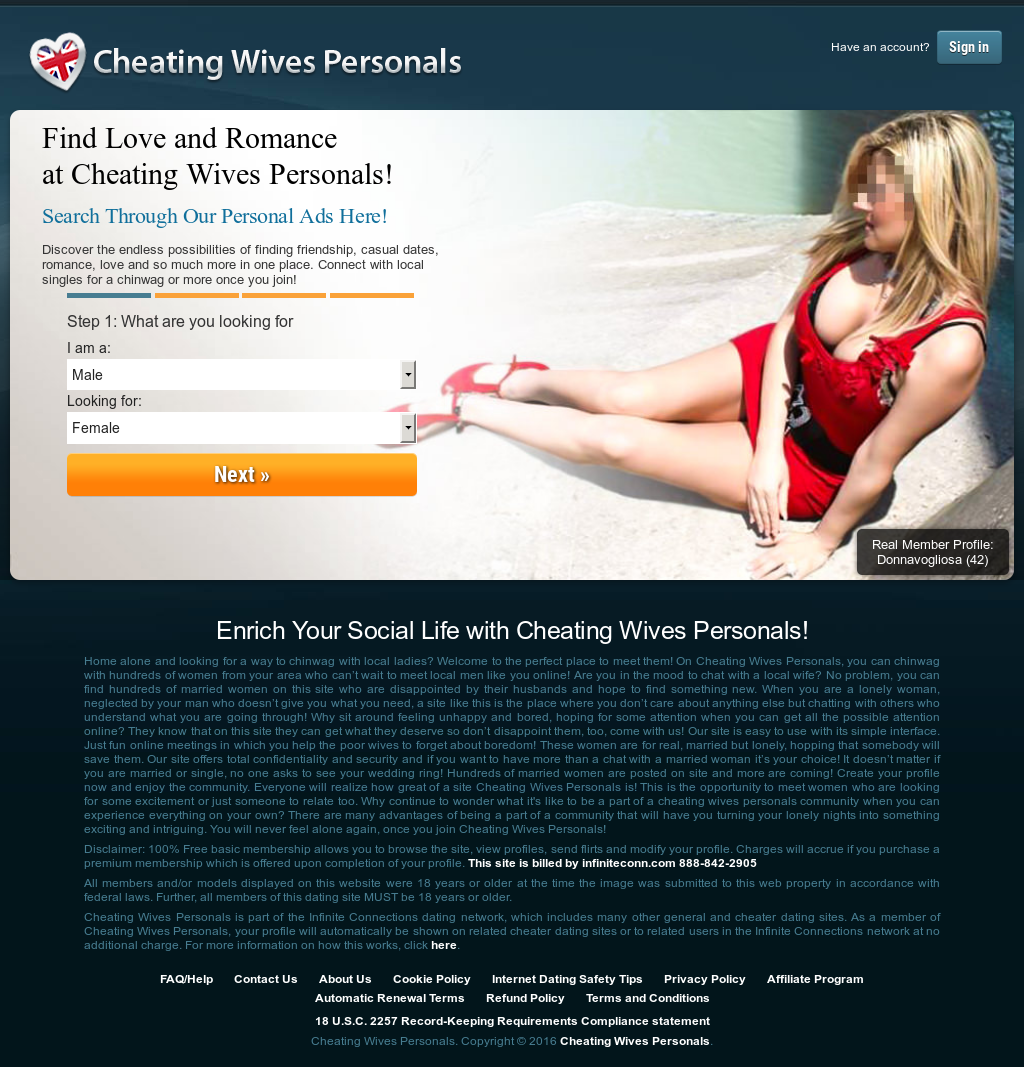 Know nothing Cheating wives personal ads