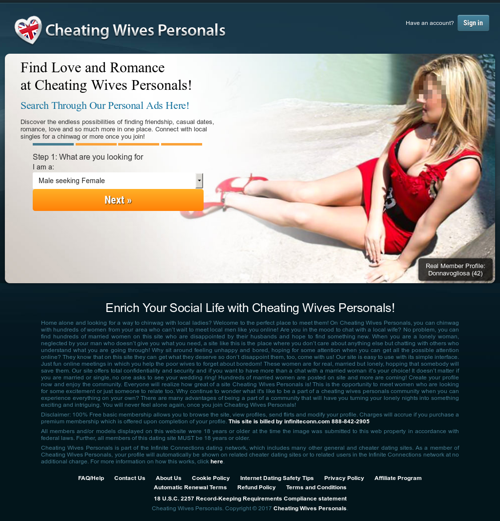 Cheating wives personals