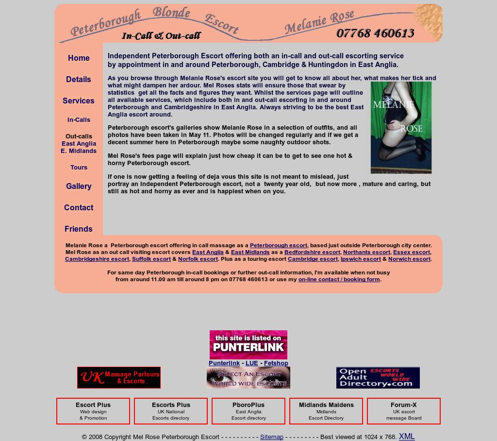 Uk Escort Directory >> Mel Rose Peterborough Escort Competitors Revenue And Employees