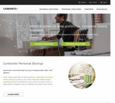 Carbonite website history