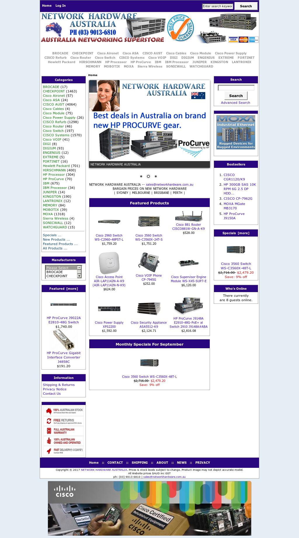 Network Hardware Australia Competitors, Revenue and Employees