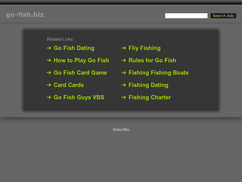 Go fish date website