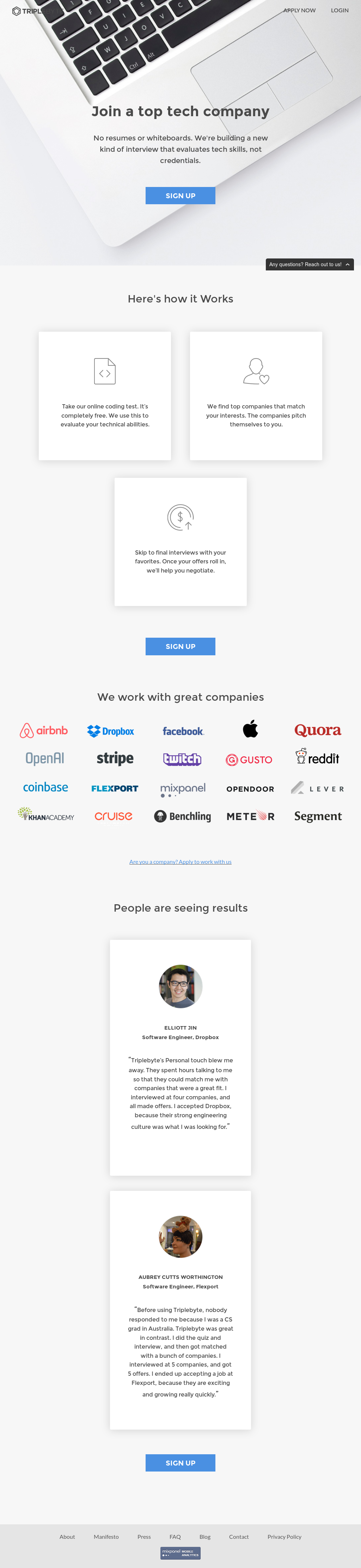 Triplebyte Competitors, Revenue and Employees - Owler