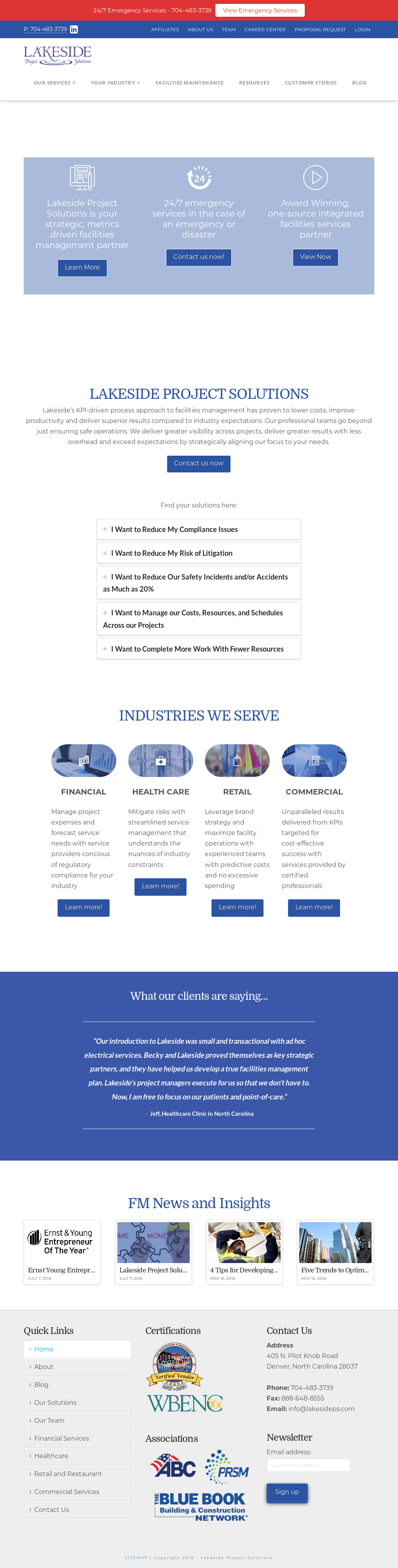 Lakeside Property Services Competitors Revenue And Employees Electrical Emergency Plan Website History