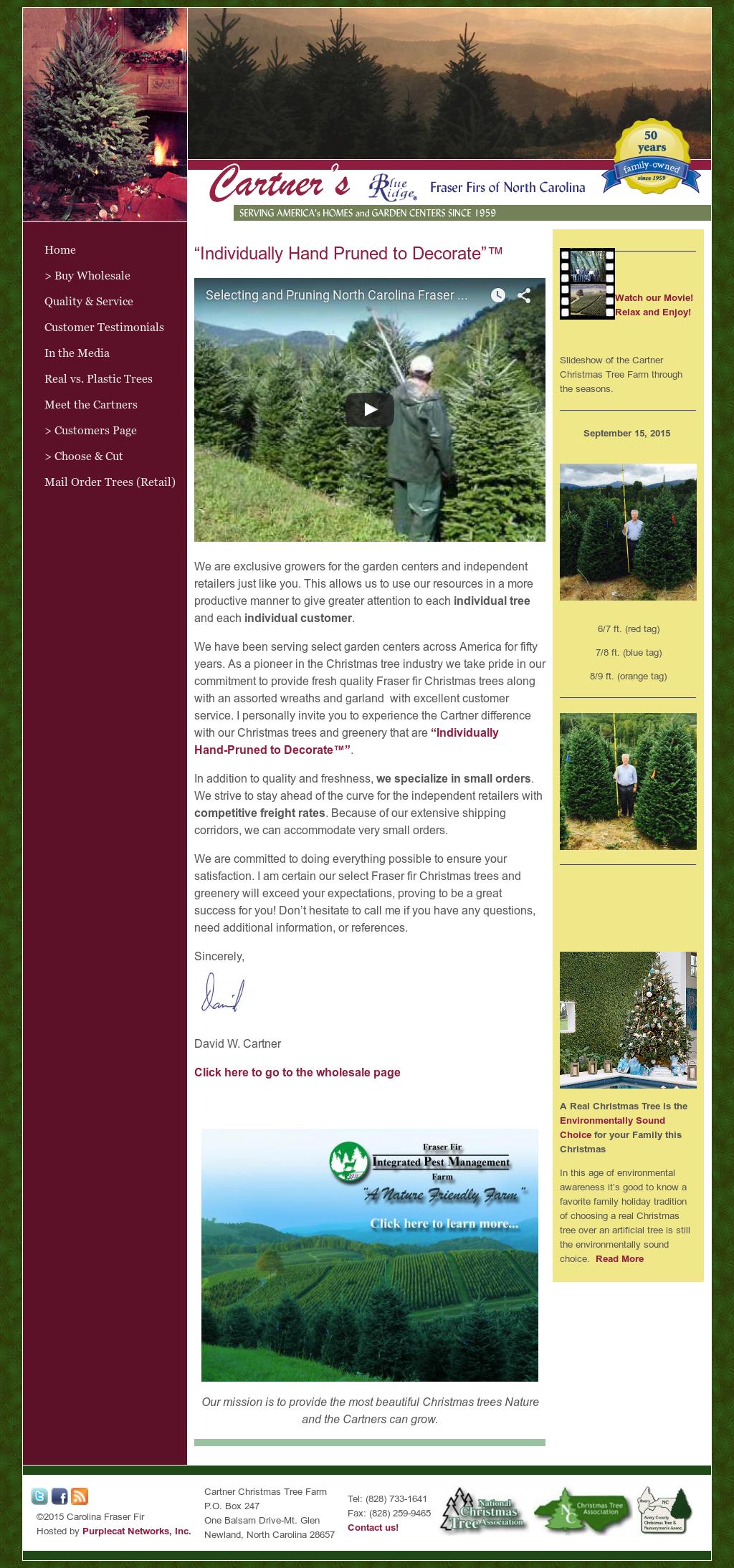 Cartner Christmas Tree Farm Competitors